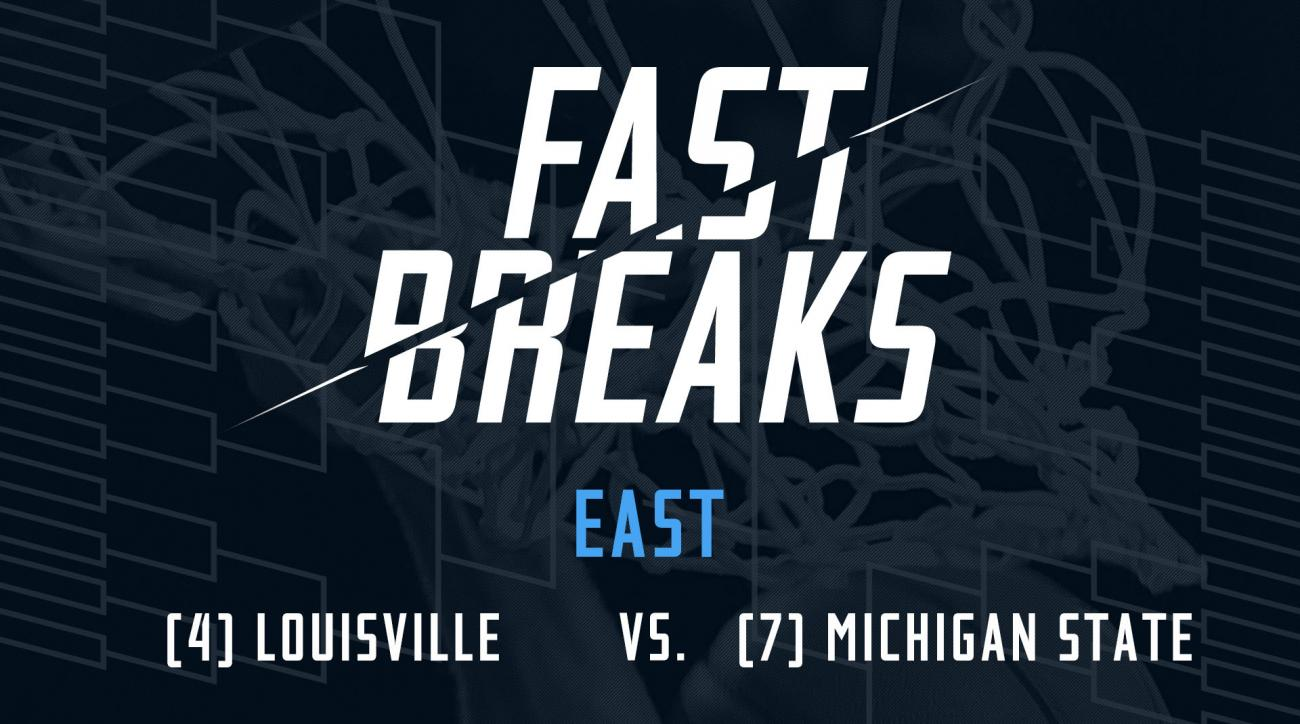 Fast Breaks: (4) Louisville Cardinals vs. (7) Michigan State Spartans preview IMG