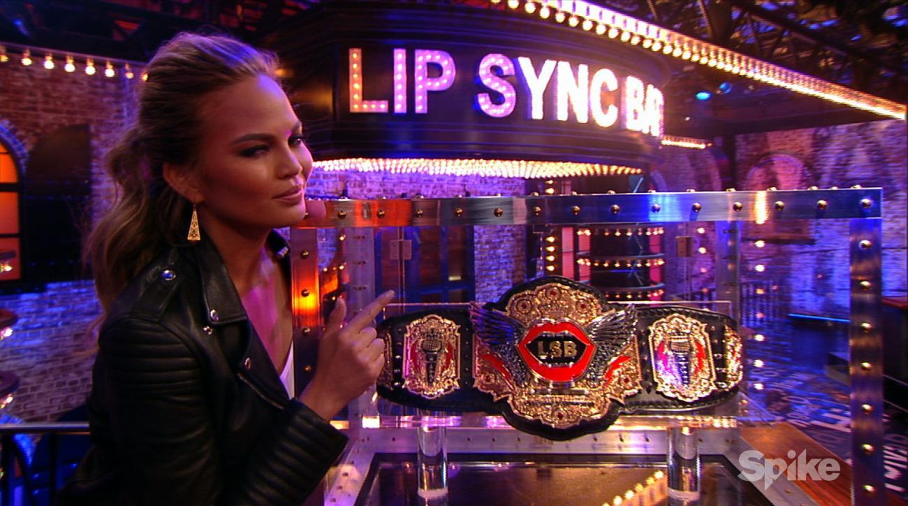 Chrissy Teigen in Lip Sync Battle reel (image)