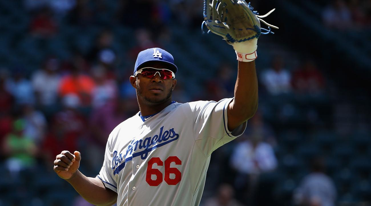 Dodgers' Yasiel Puig headed for MRI after setback in rehab game