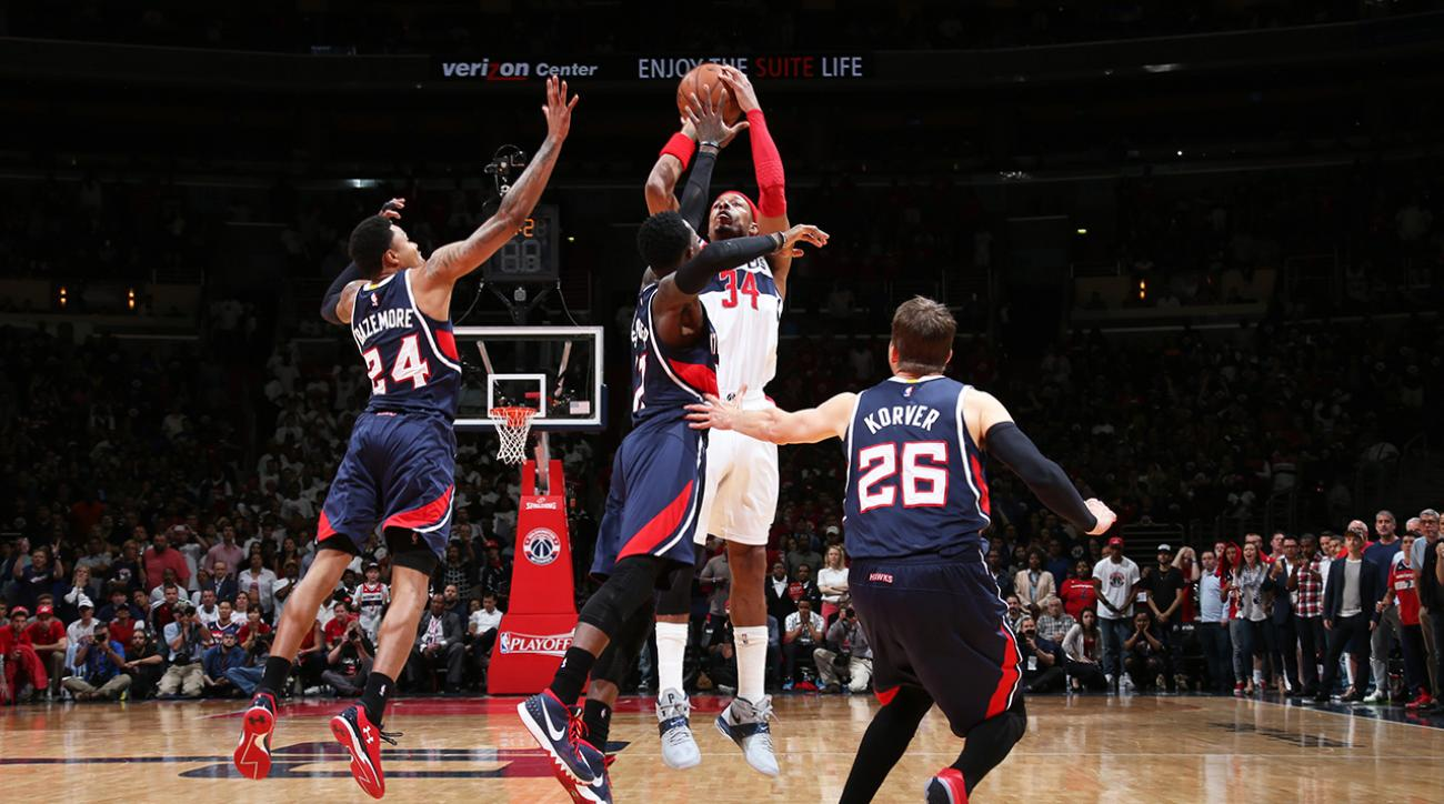 Washington Wizards' Paul Pierce sinks buzzer beater