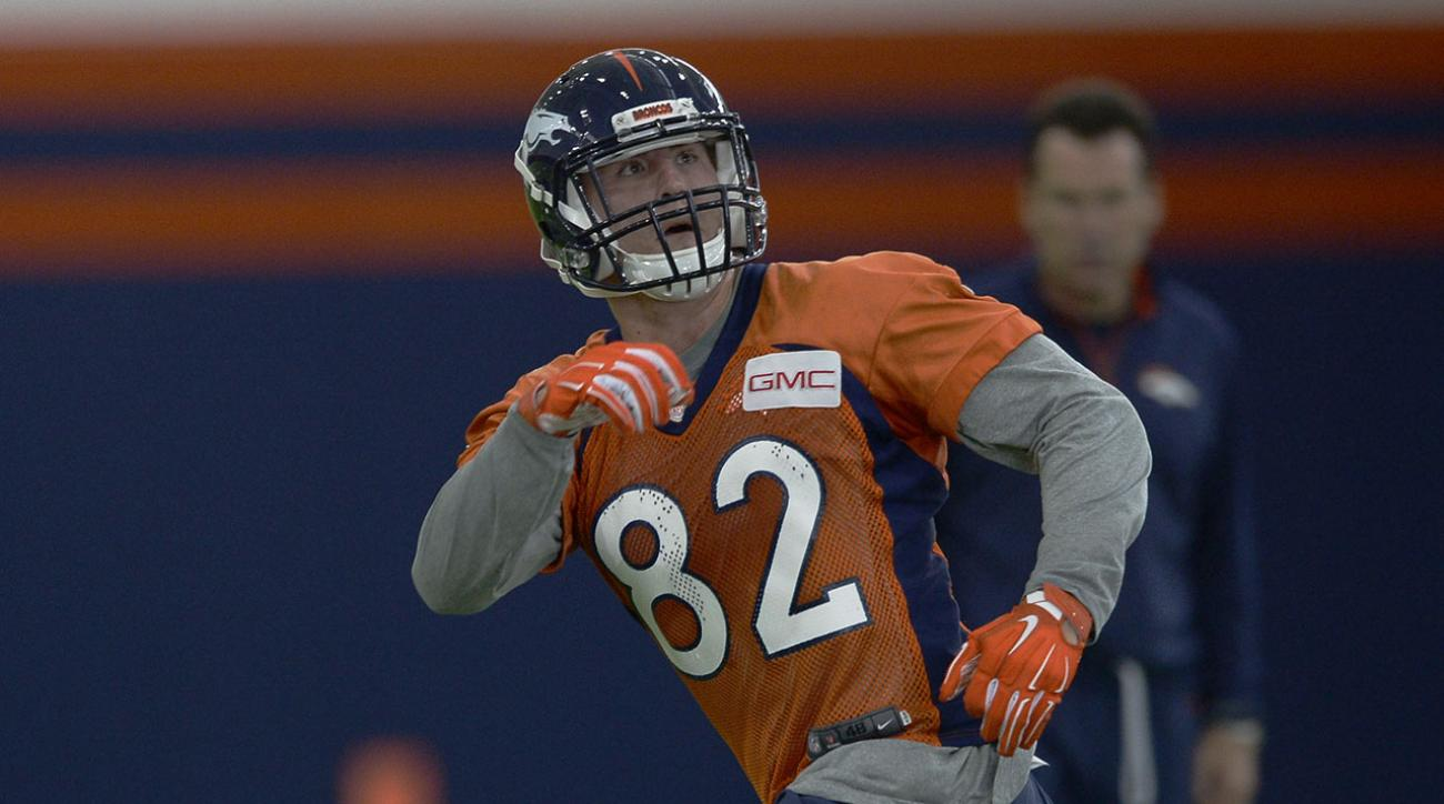 buy online 66211 b49bf Broncos' third-round pick Jeff Heuerman tears ACL, done for season