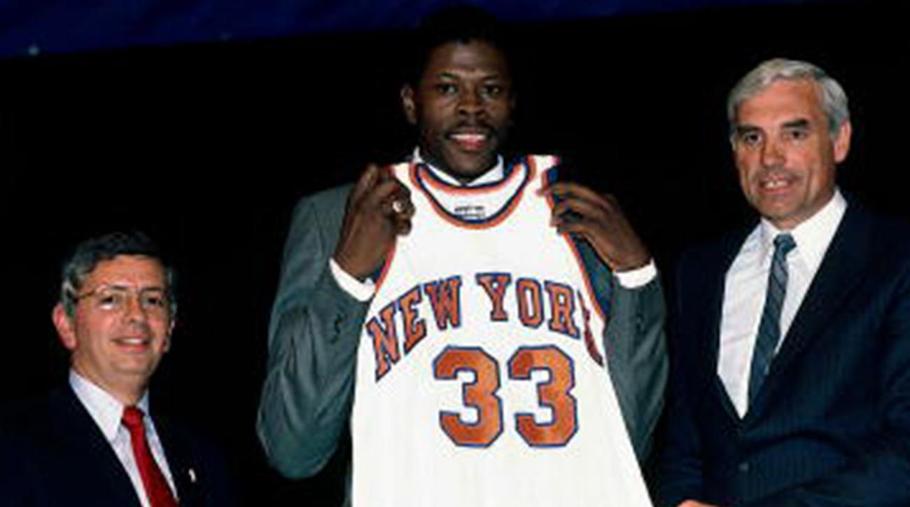 1985, nba draft, nba draft lottery, new york knicks, patrick ewing, georgetown, david stern, Bill Simmons, frozen envelope, nba commissioner