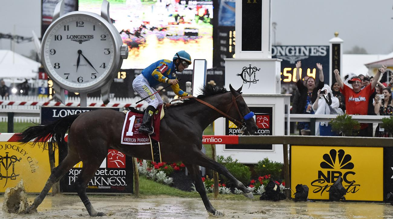 american-pharoah-wins-preakness-triple-crown-belmont