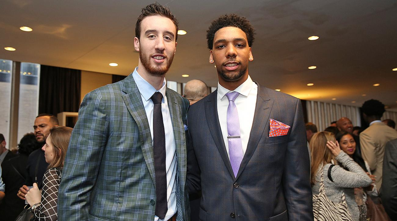 Frank Kaminsky takes Jahlil Okafor over Karl-Anthony Towns nba draft