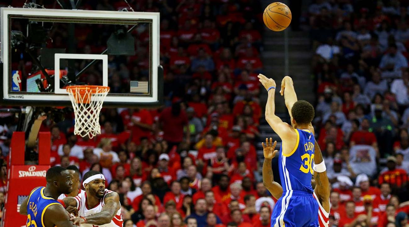 Warriors' Stephen Curry sets playoff record for made three-pointers IMAGE