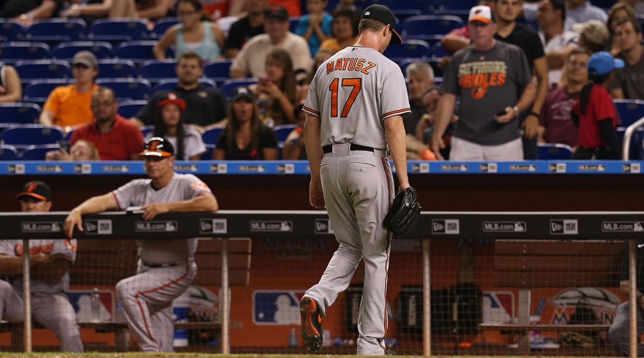 Orioles pitcher Brian Matusz suspended for foreign substance on arm  IMAGE