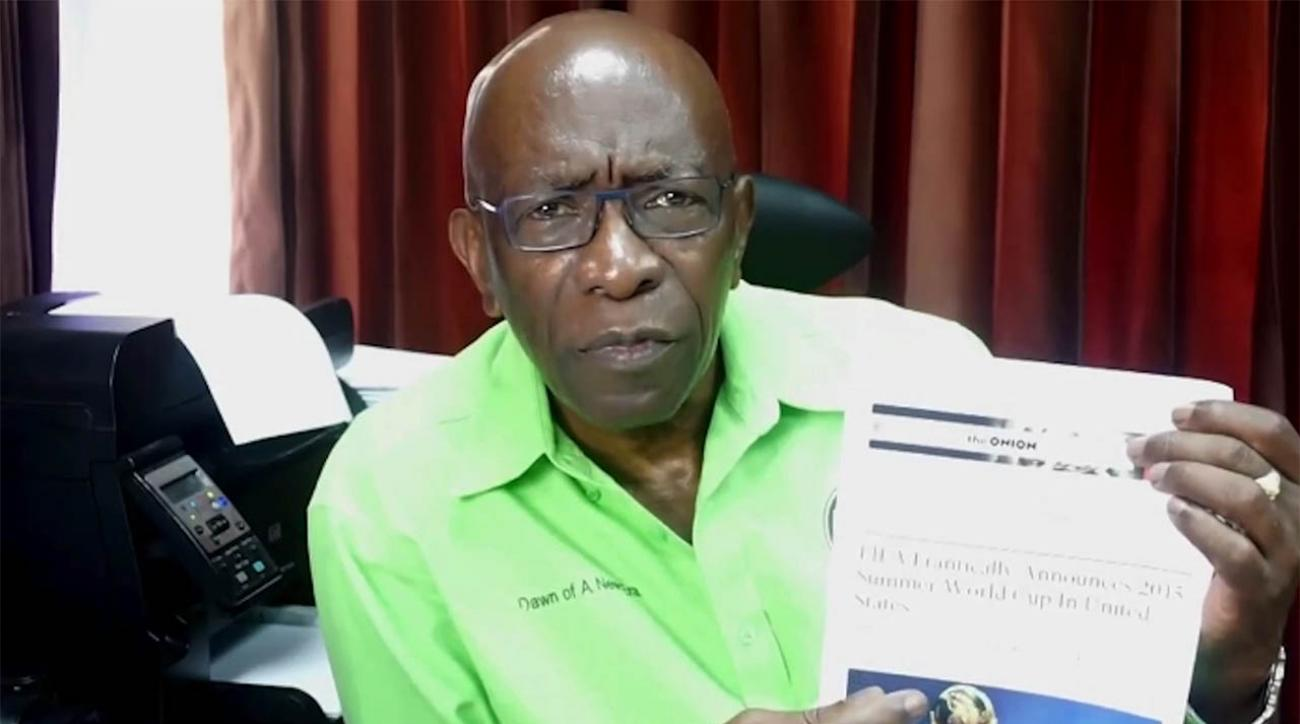 Former FIFA VP Jack WaFormer FIFA VP Jack Warner cites The Onion article in video criticizing U.S.