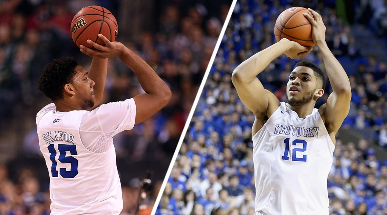 2015 NBA draft: Karl-Anthony Towns vs. Jahlil Okafor