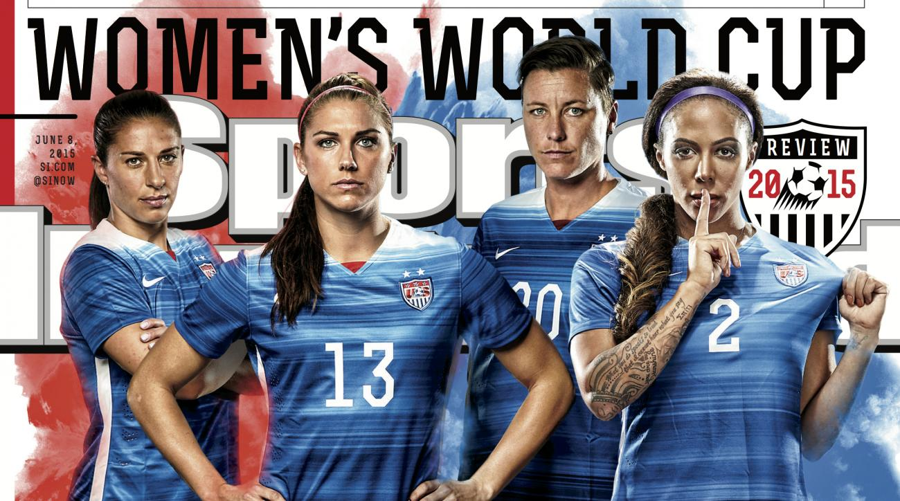 members of the u s women s national team appear on this week s cover morgan wambach leroux lloyd and the uswnt world cup team