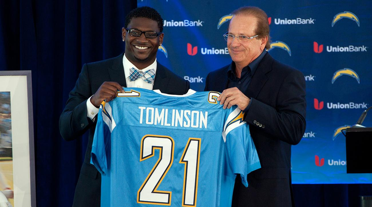 Chargers announce they will retire LaDainian Tomlinson's number IMAGE