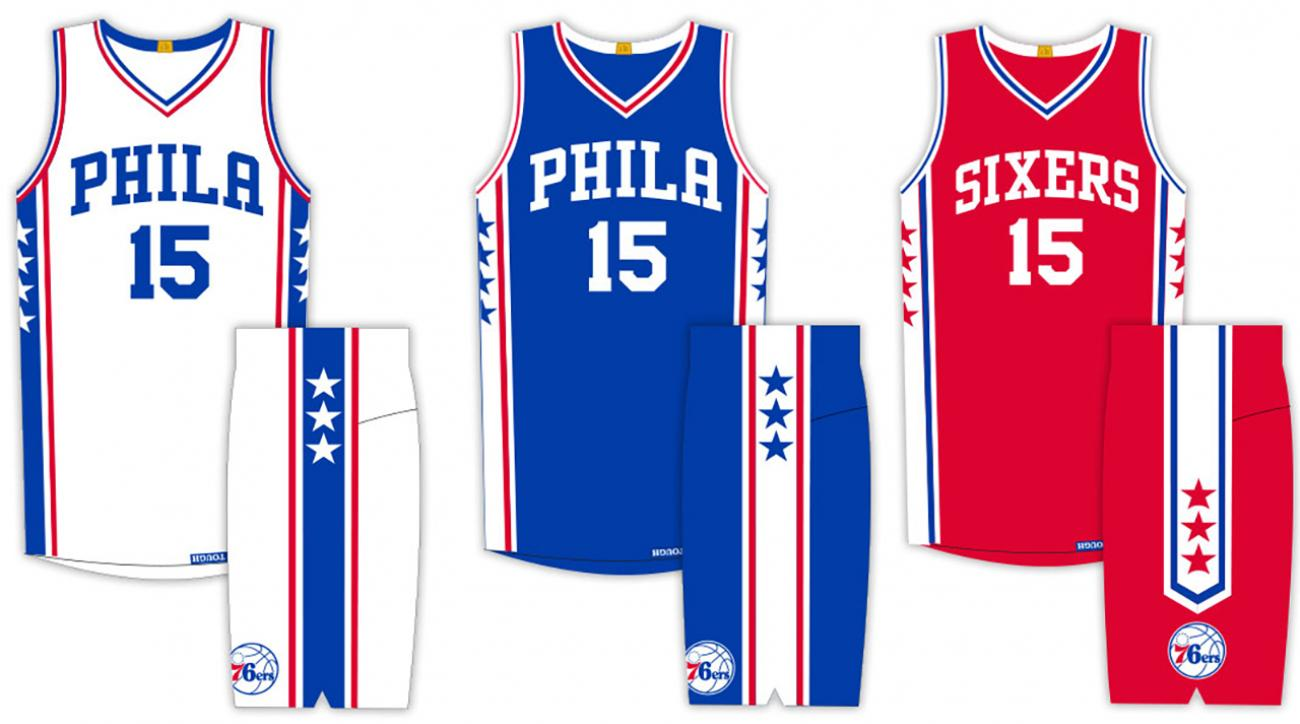 17b8fe605 VIDEO - Philadelphia 76ers unveil new uniforms