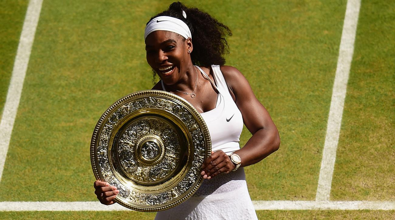 2015 Wimbledon women's champion Serena Williams