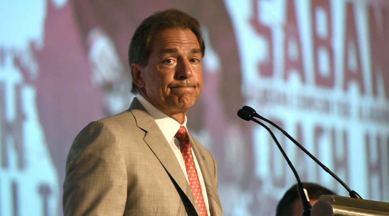 Alabama Crimson Tide, College football, Nick Saban, SEC Media Days, sports illustrated, nfl draft, nick saban nfl draft