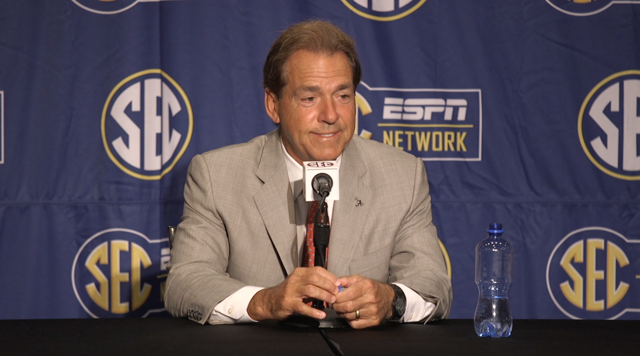 Alabama Crimson Tide, College football, Nick Saban, SEC Media Days, sports illustrated