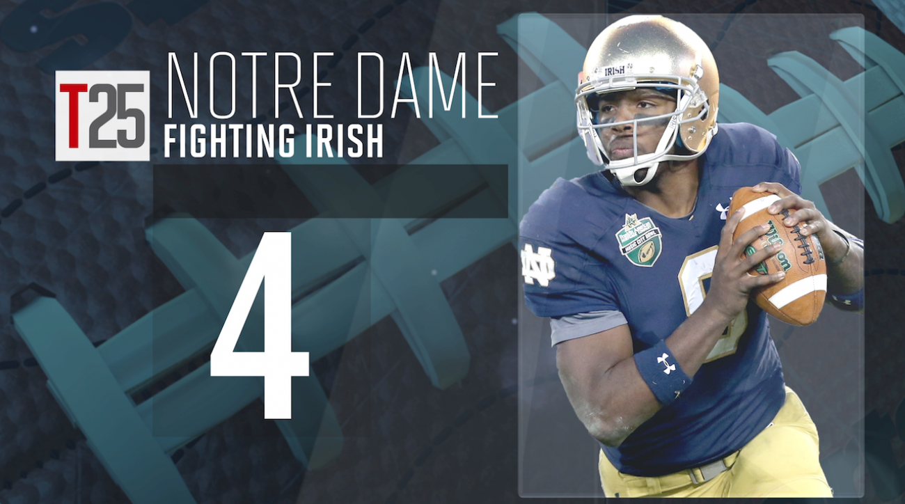 College football, Notre Dame Fighting Irish, preseason top 25, sports illustrated, malik zaire, college football top 25, cfb