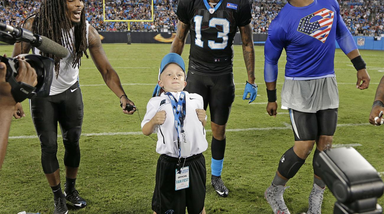 super popular 67c02 c1644 VIDEO - Carolina Panthers QB Cam Newton does stanky leg ...