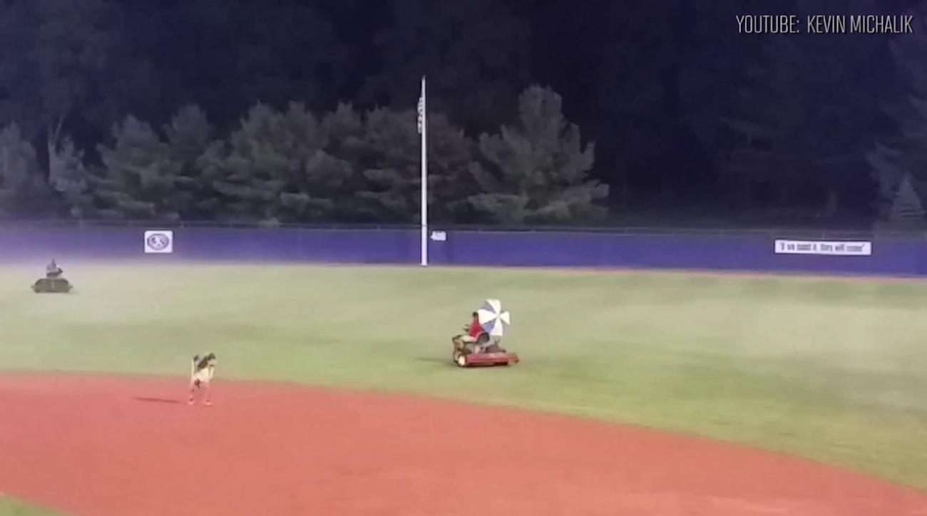 Senior League World Series grounds crew try to chase away fog