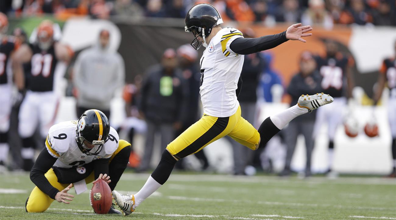 Report: Steelers kicker Shaun Suisha out for the season with torn ACL IMAGE
