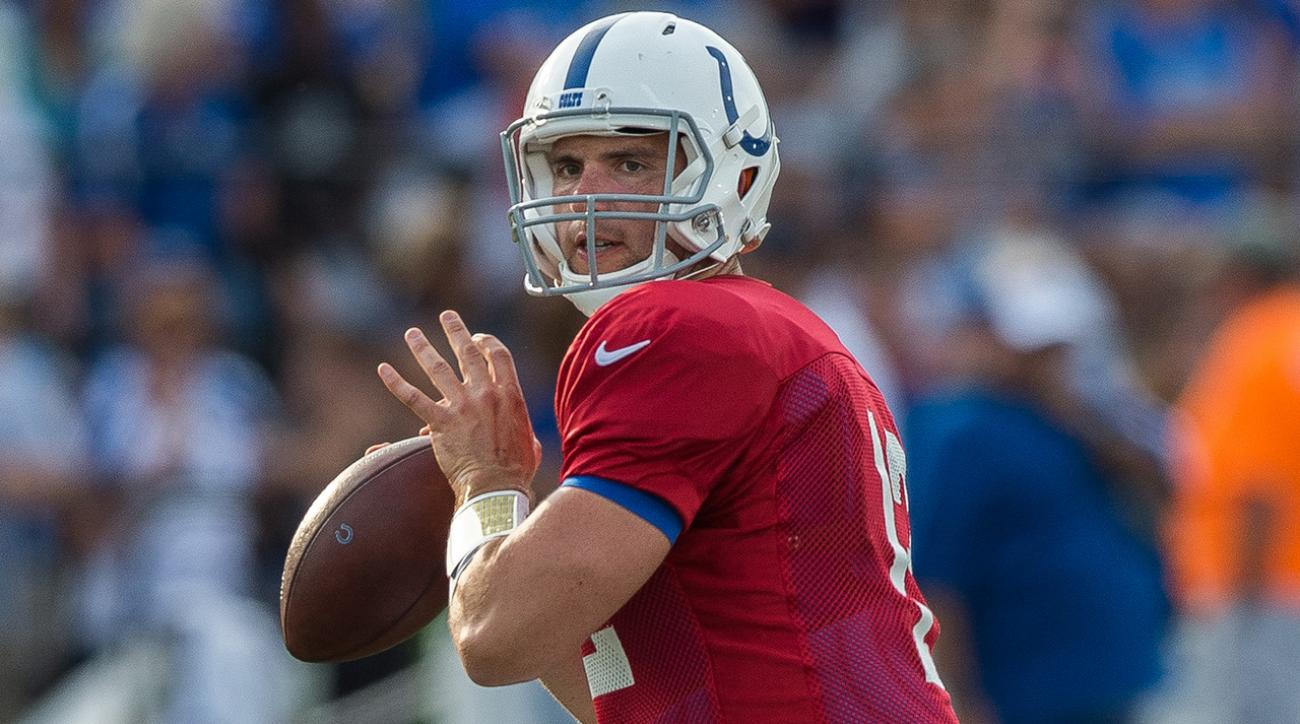 Andrew Luck isn't worried about his lack of receiving options