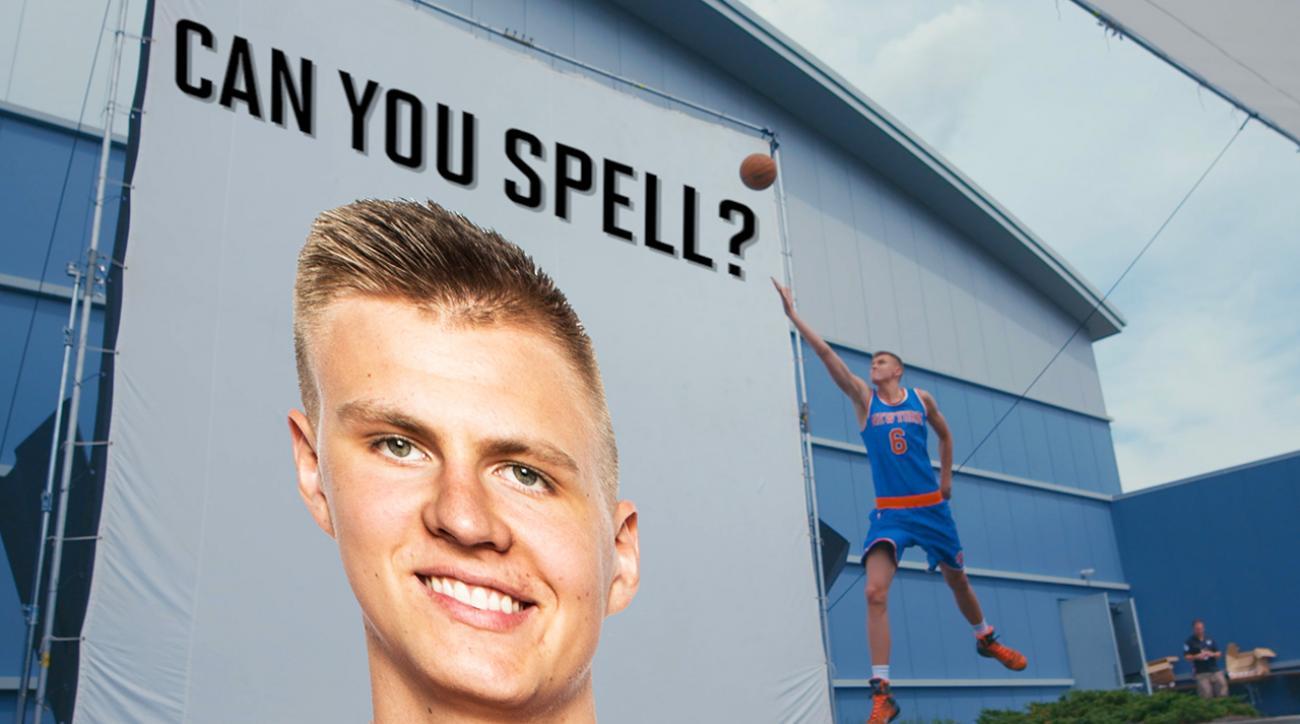 "NBA rookies struggle to spell ""Kristaps Porzingis"" IMG"