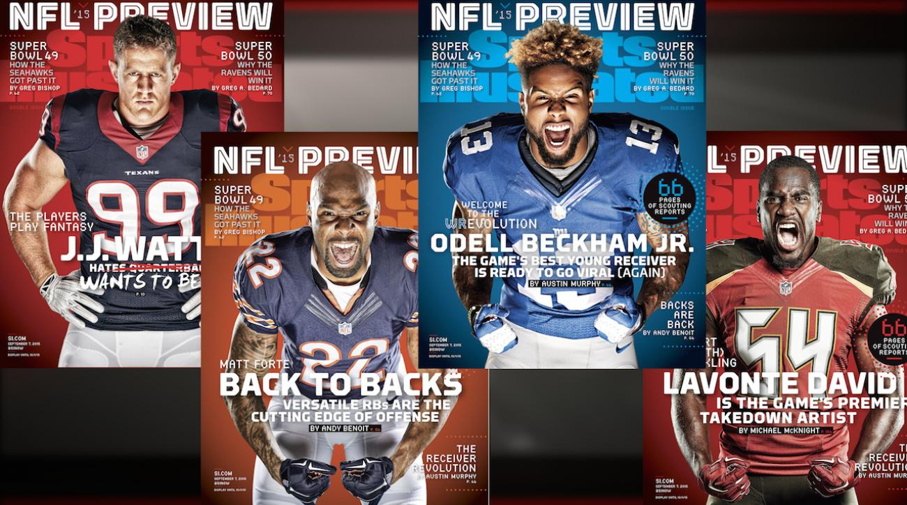 J.J. Watt, Beckham Jr., Forte, and Lavante David on SI covers