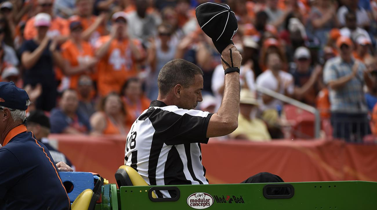 Report: Broncos-Ravens official sustained broken ribs, collapsed lung