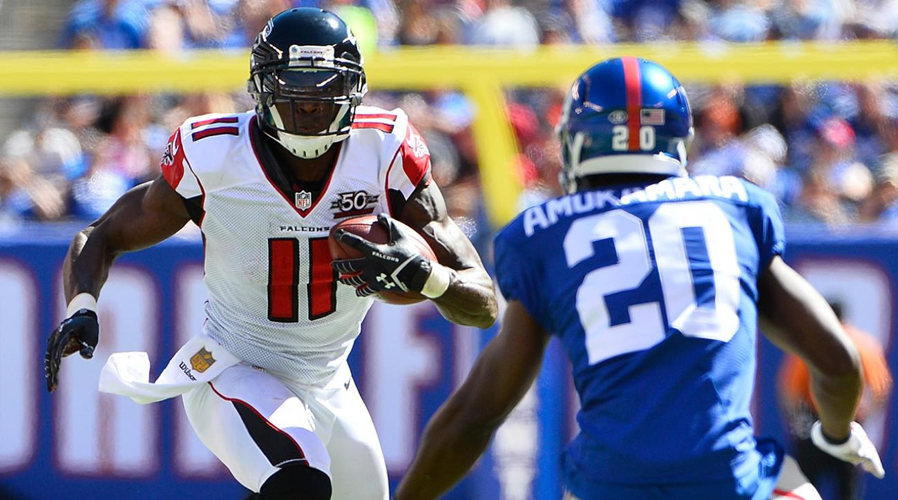 Jones and Falcons send struggling Giants to 0-2