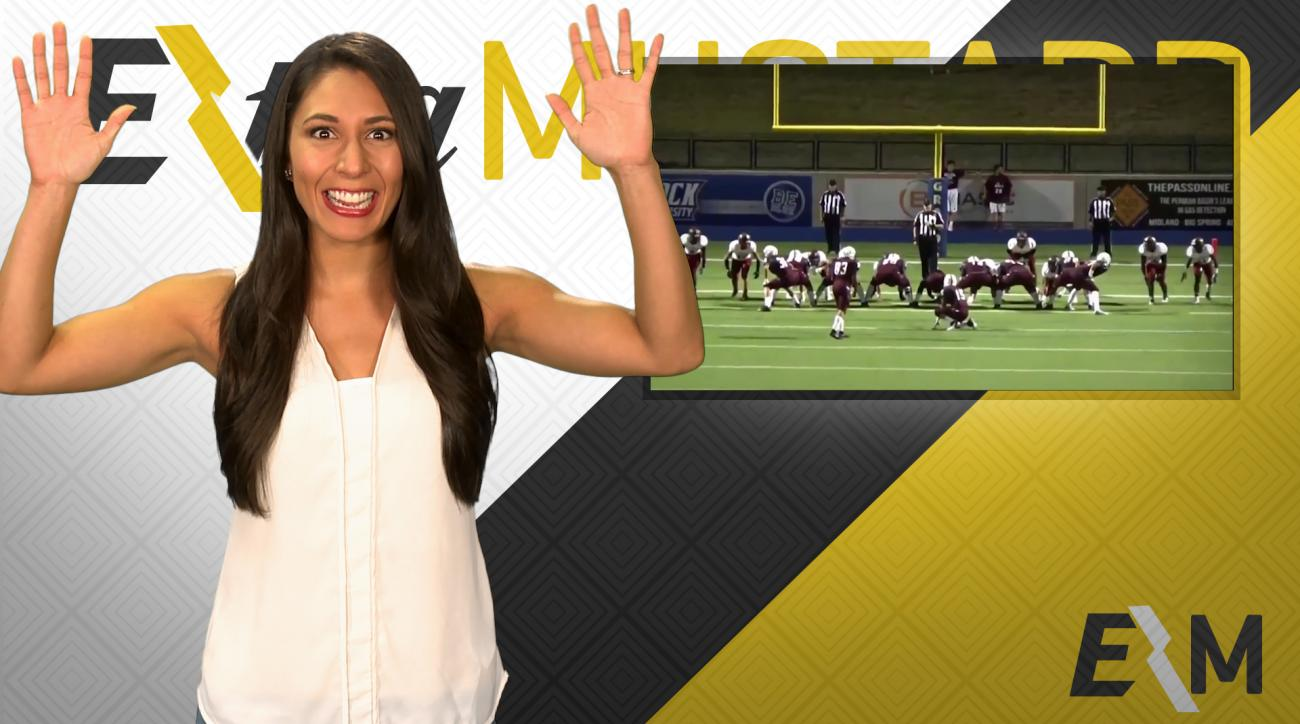 Mustard Minute: Extra point is good after ball hits referee in head IMG