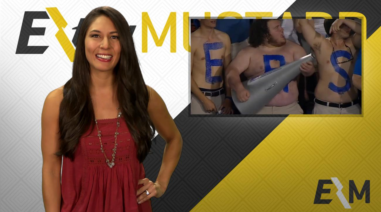 Mustard Minute: Memphis fan rocks air guitar with megaphone IMG