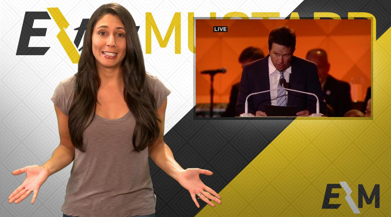 Mustard Minute: Mark Wahlberg drops 'Go Eagles' in front of Pope IMG