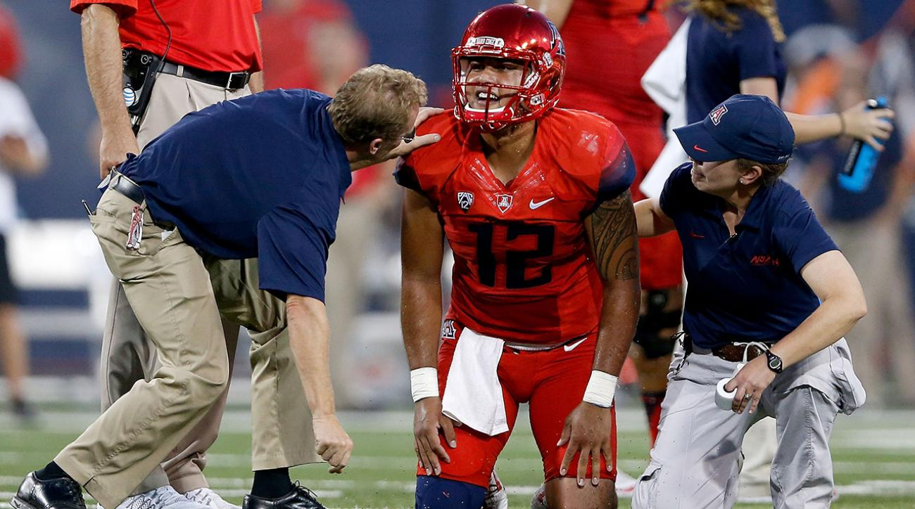 Arizona QB Anu Solomon questionable vs Stanford with concussion  IMAGE