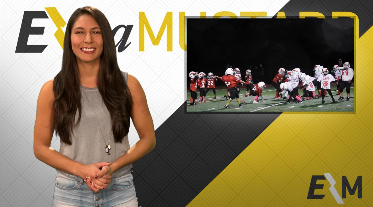 Mustard Minute: Youth football team dances Whip and Nae Nae on field IMG