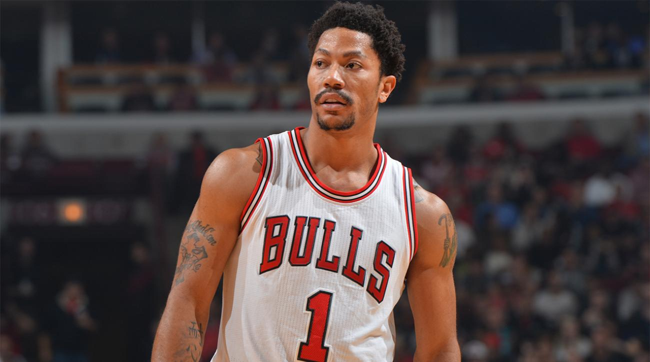 Facial injury leaves Derrick Rose in doubt for Bulls opener against the Cavaliers IMAGE