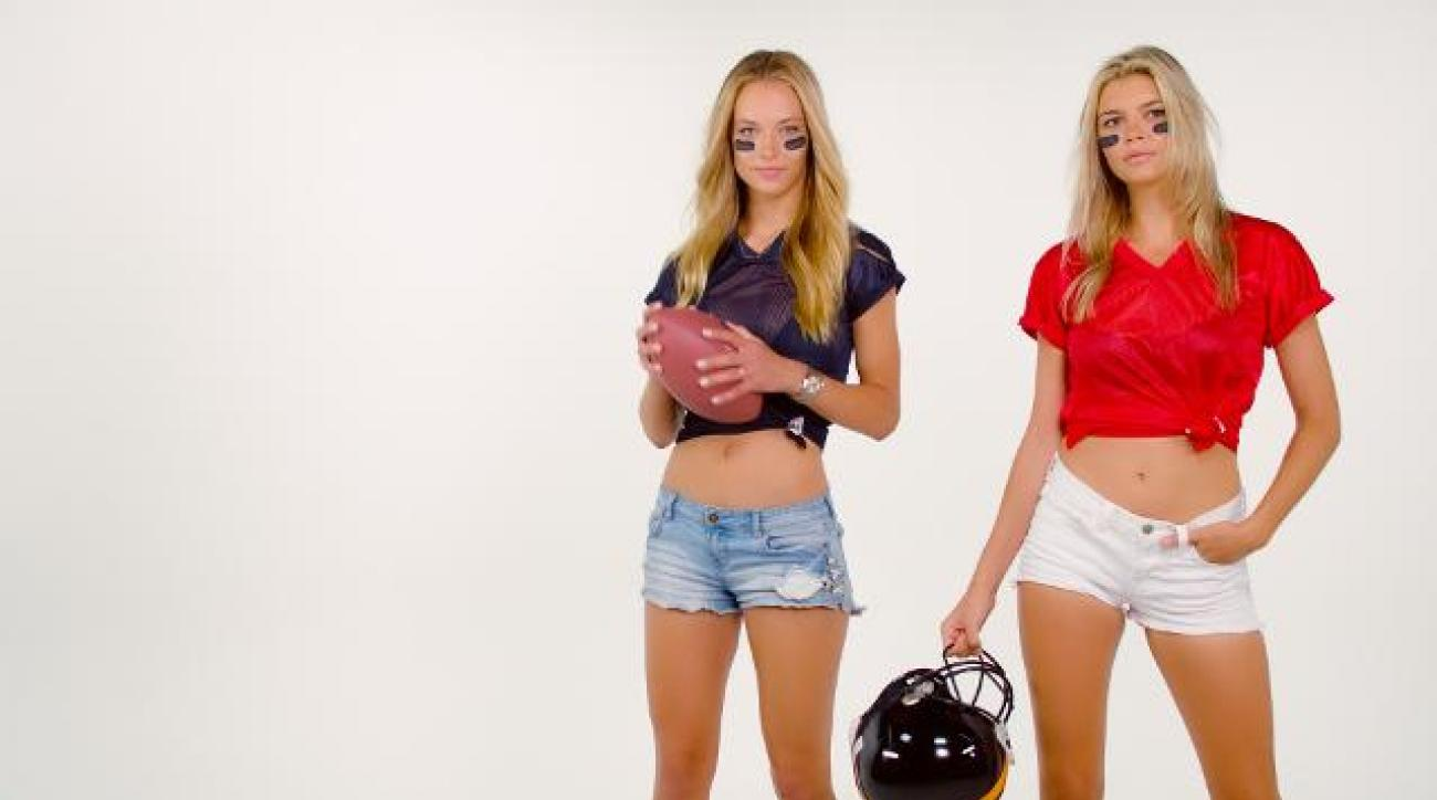 Hannah Ferguson and Kelly Rohrbach Sexy NFL Dance-Off