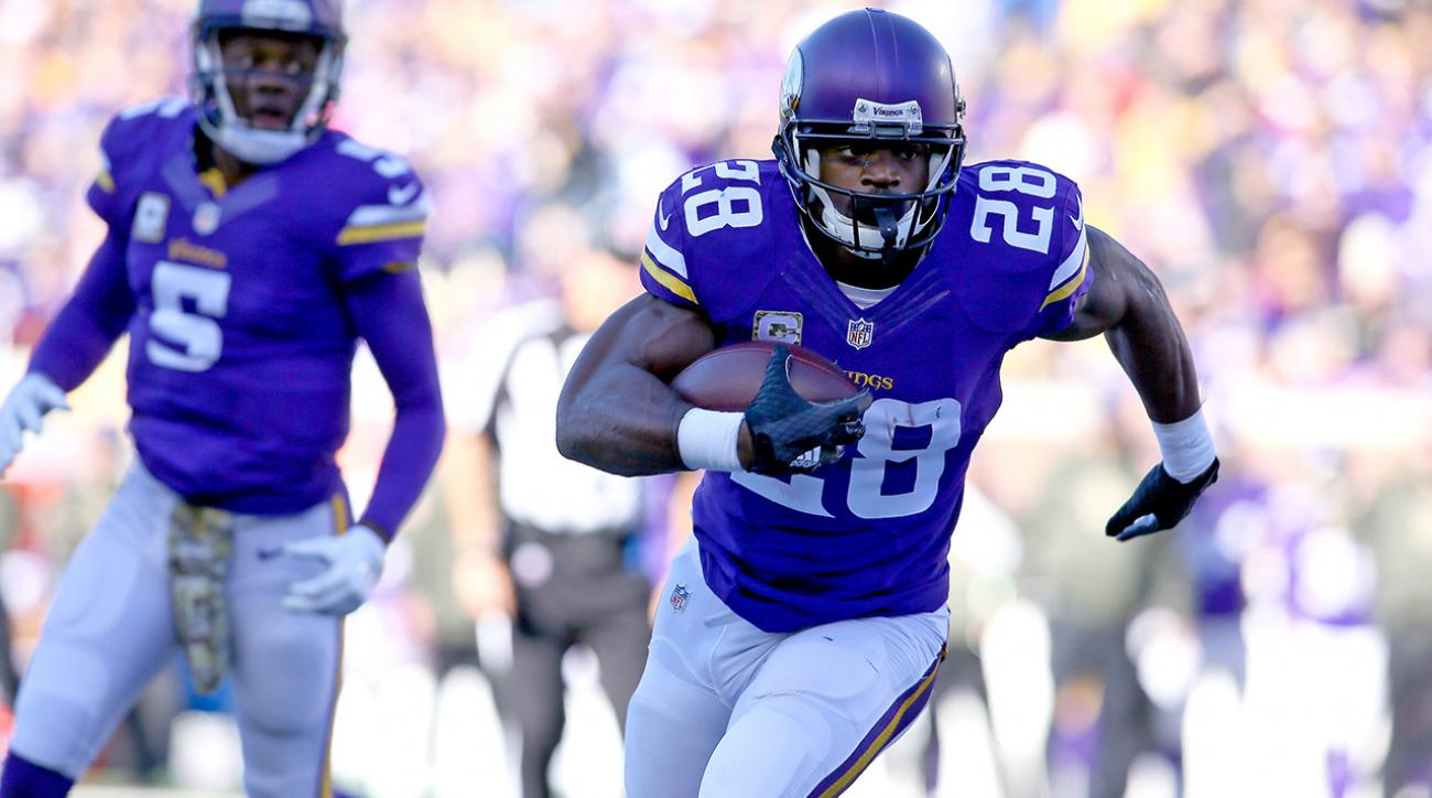 Vikings beat Rams to claim share of division lead