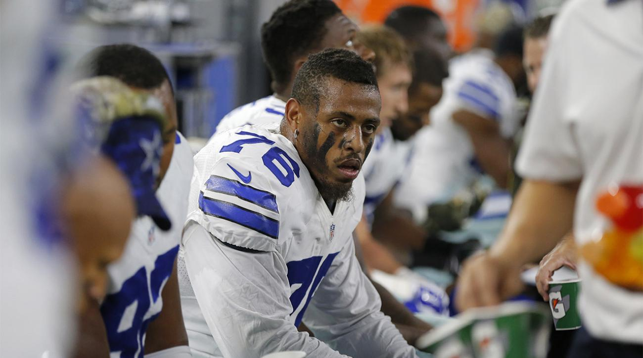 Report: Greg Hardy told NFL in reinstatement hearing victim 'tripped'