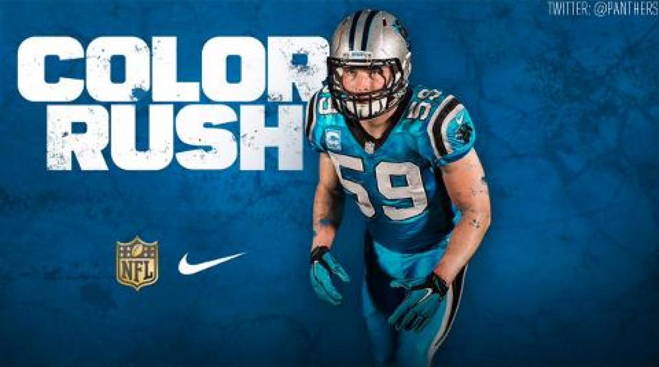 huge discount 7214f 07b6f NFL releases Thanksgiving Day 'Color Rush' uniforms for Cowboys-Panthers  game