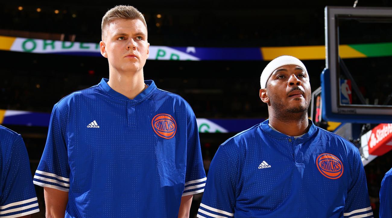Carmelo Anthony says Kristaps Porzingis is future Knicks leader