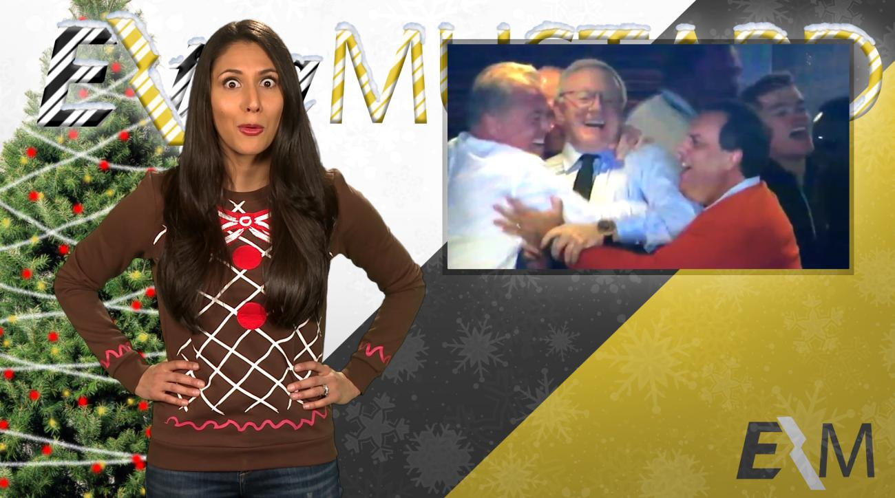Mustard Minute's 12 Sports Nays of Christmas Day 3: Awkward 3-way hug IMG