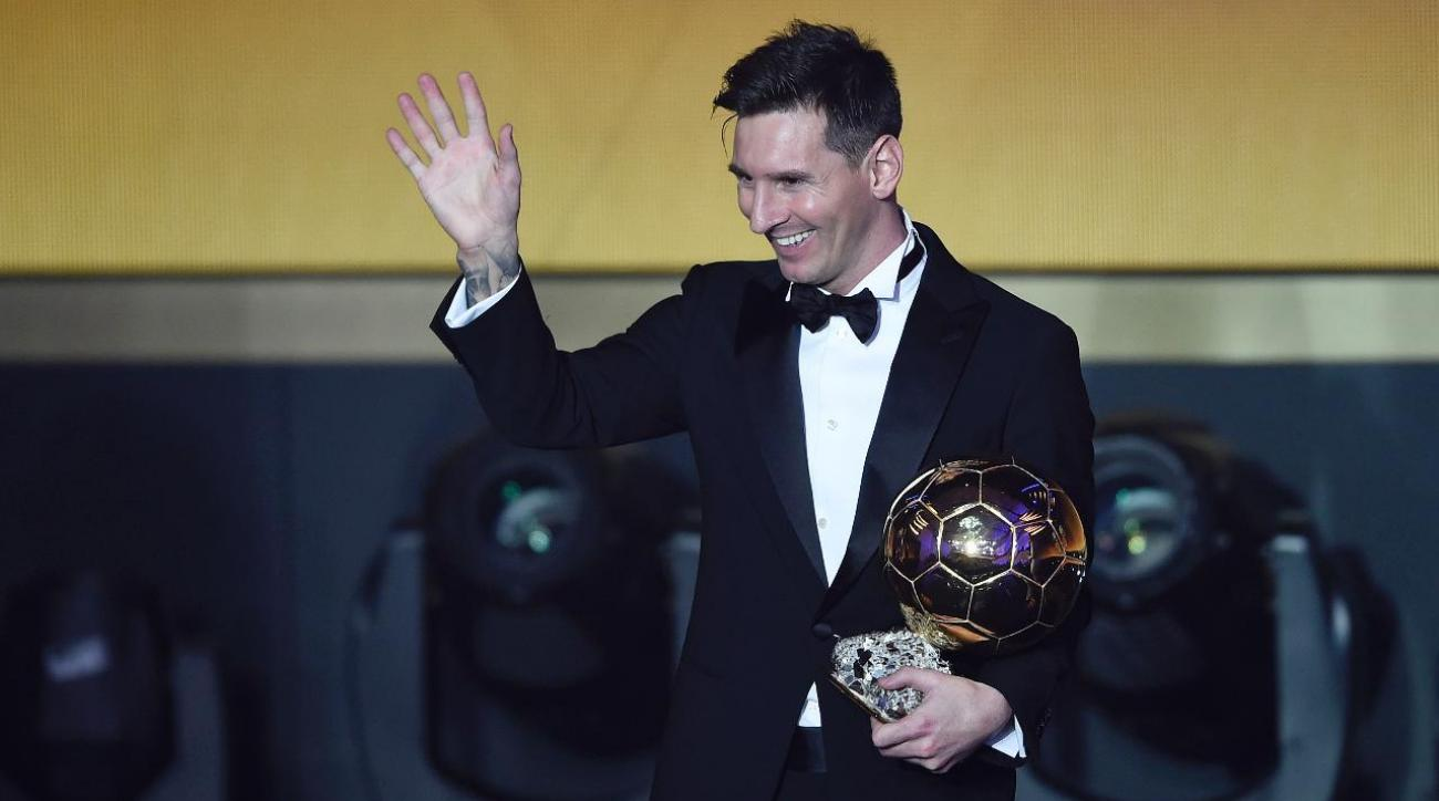 Lionel Messi wins Ballon d'Or for fifth time