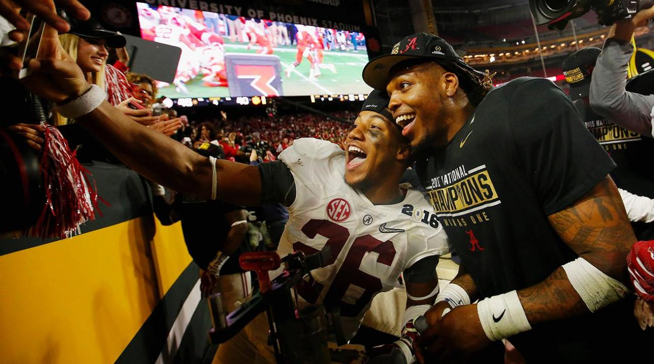 CFP National Championship: Alabama players celebrate their win