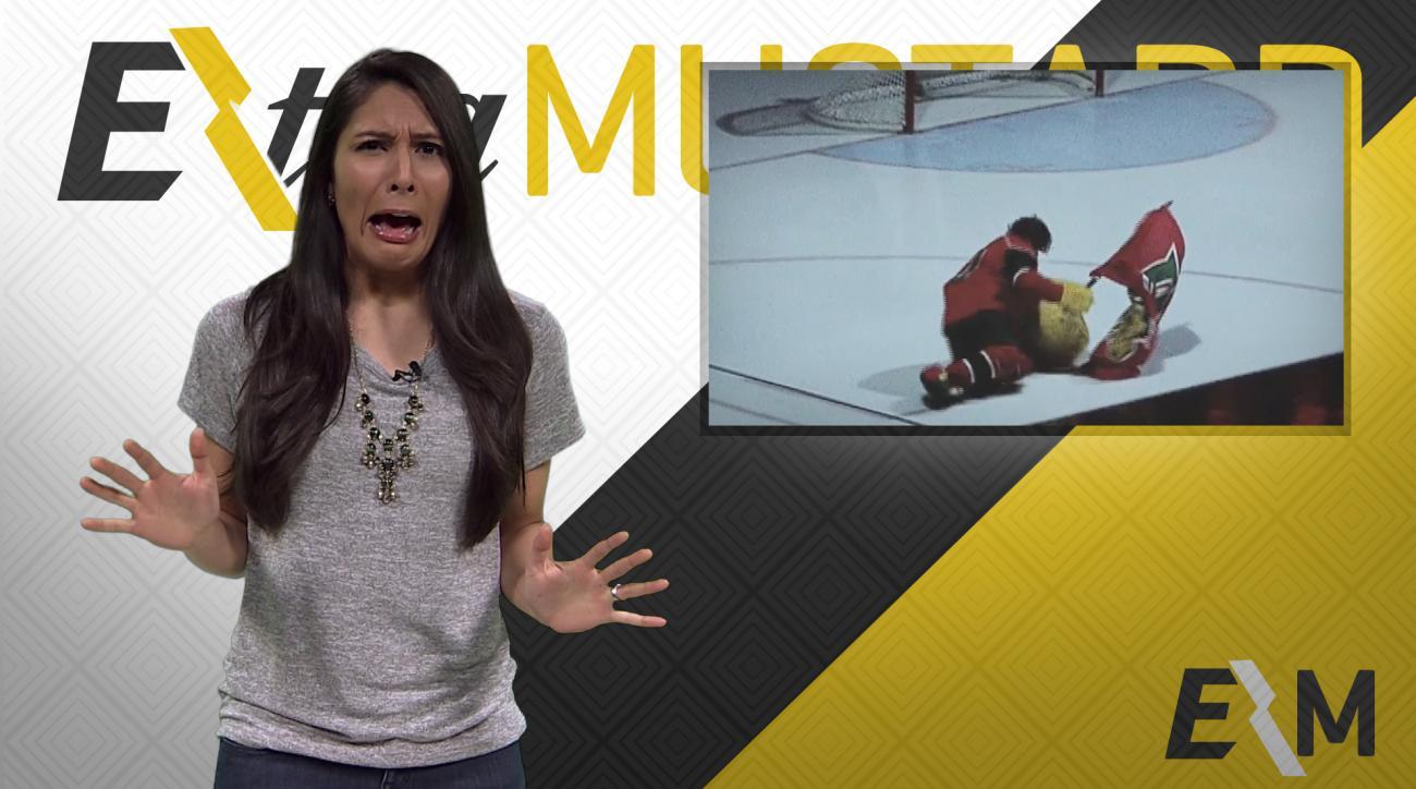 Mustard Minute: Epic mascot fail, Halifax Mooseheads mascot loses head IMG