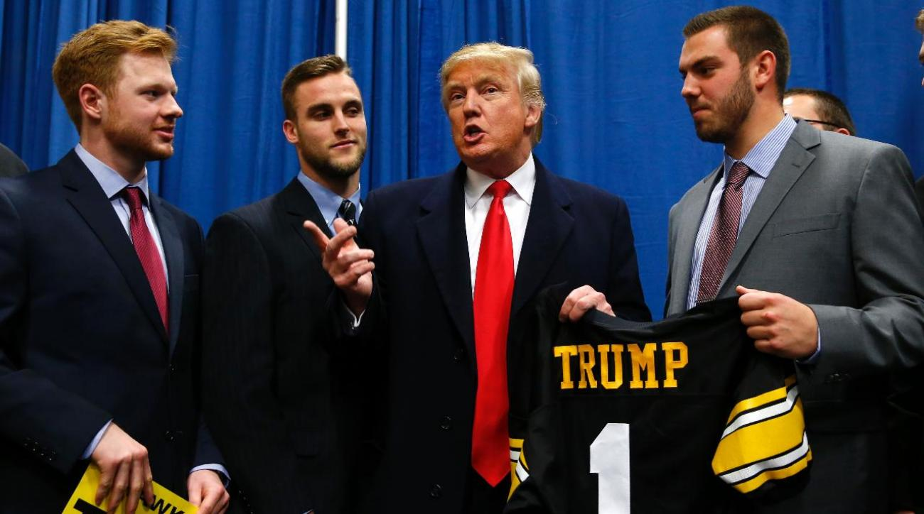 Iowa administrators claim Trump rally didn't violate NCAA rules