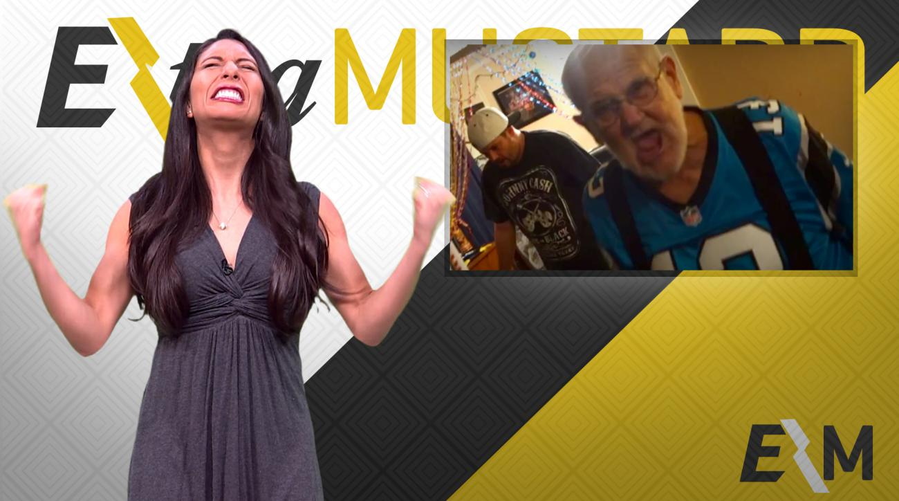 Mustard Minute: Panthers fan Angry Grandpa destroys TV during Super Bowl 50 IMG