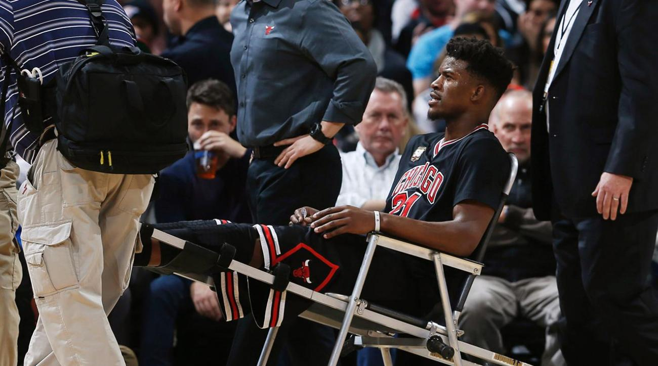 Bulls guard Jimmy Butler out 3-4 weeks with knee strain IMAGE