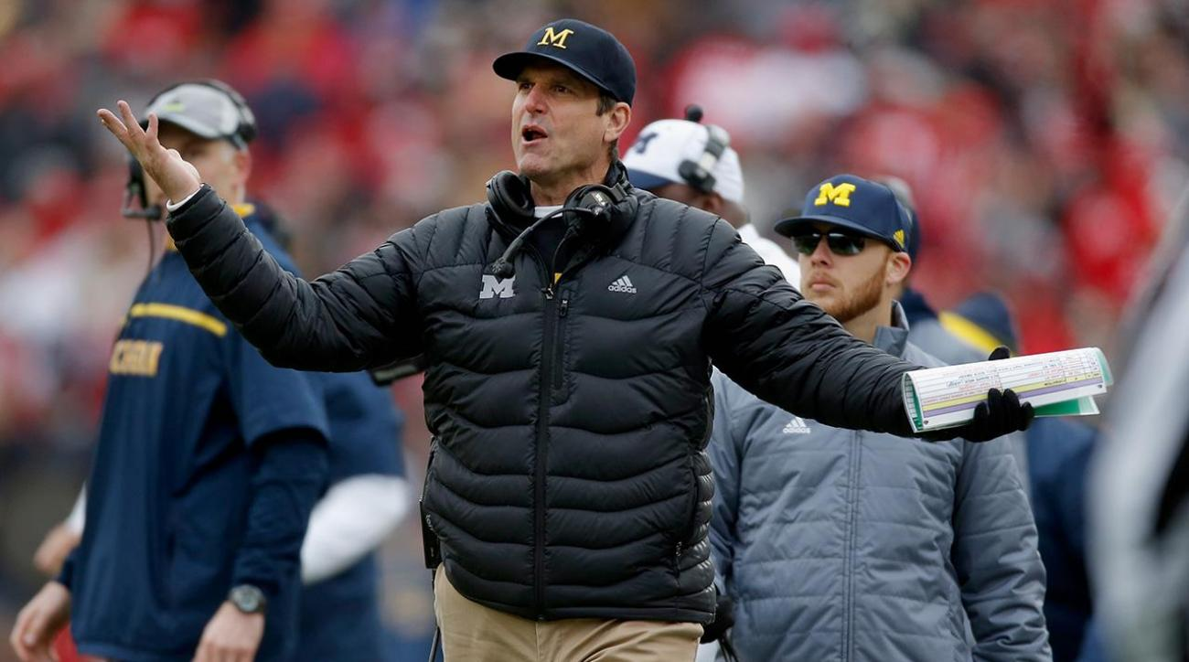 Jim Harbaugh, SEC commissioner tangle over spring practice controversy