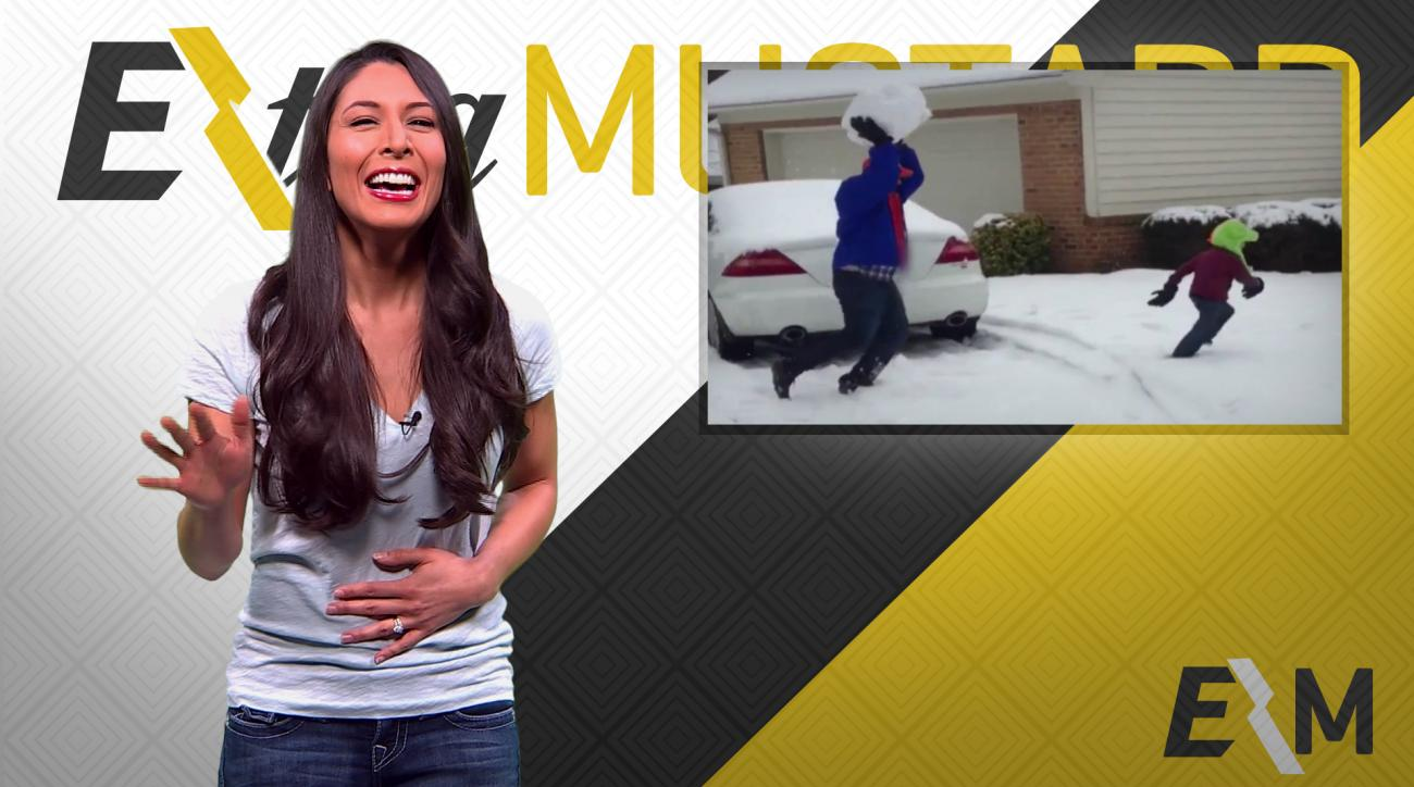 Mustard Minute: Dad crushes kid's dreams after hitting him with giant snowball IMG