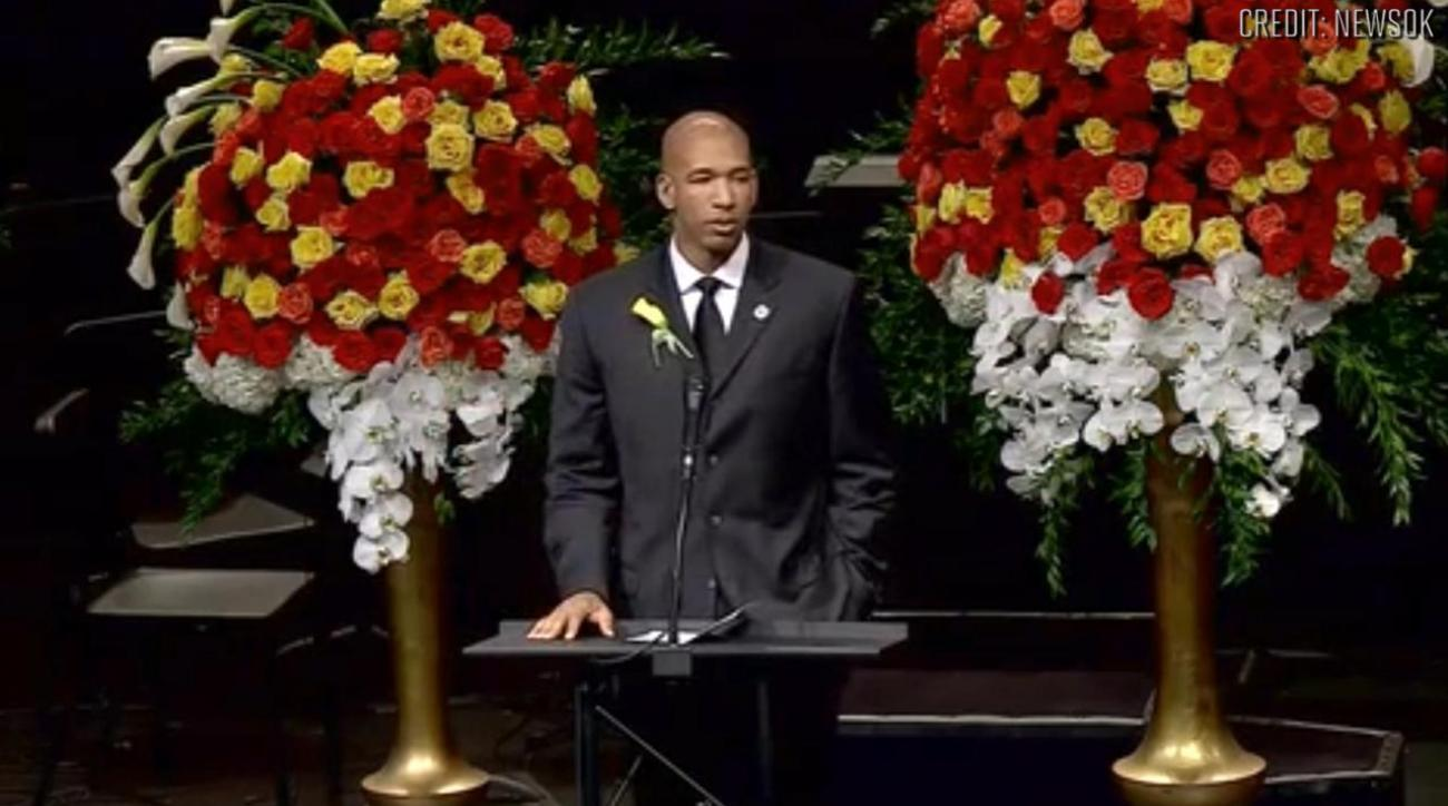 Thunder's Monty Williams delivers eulogy at wife's funeral