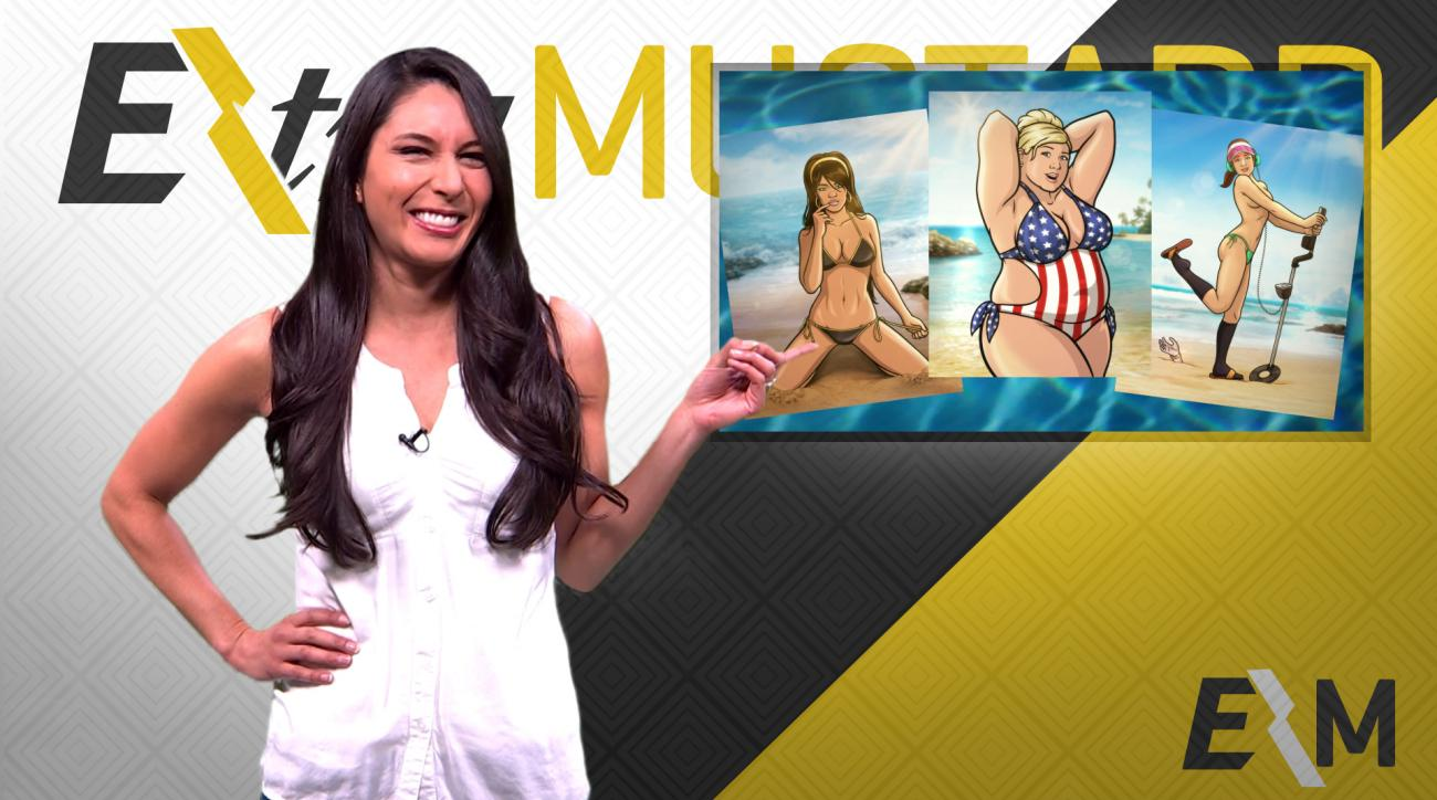 Mustard Minute: The ladies of Archer meet SI Swimsuit IMG