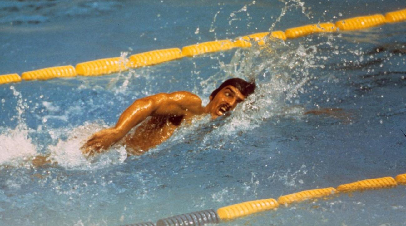 Image result for swimmer mark       spitz sets gold record in 1972